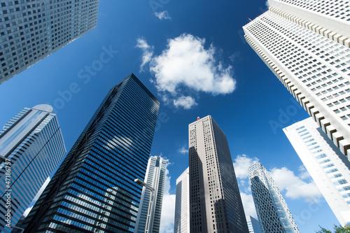 Slika na platnu 新宿の高層ビル街