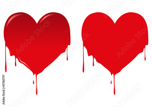 Photo Vector illustration of bleeding heart