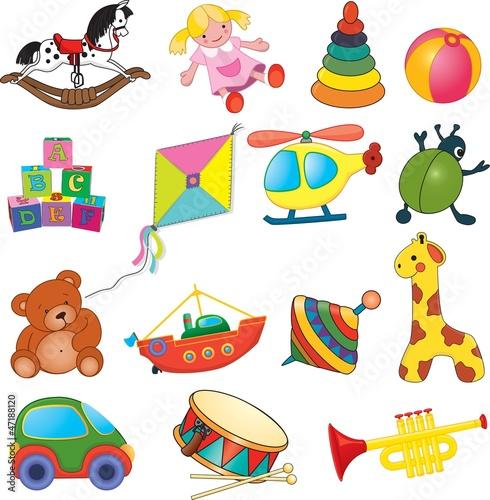 wektorowy-ustawiajacy-dziecko-zabawki