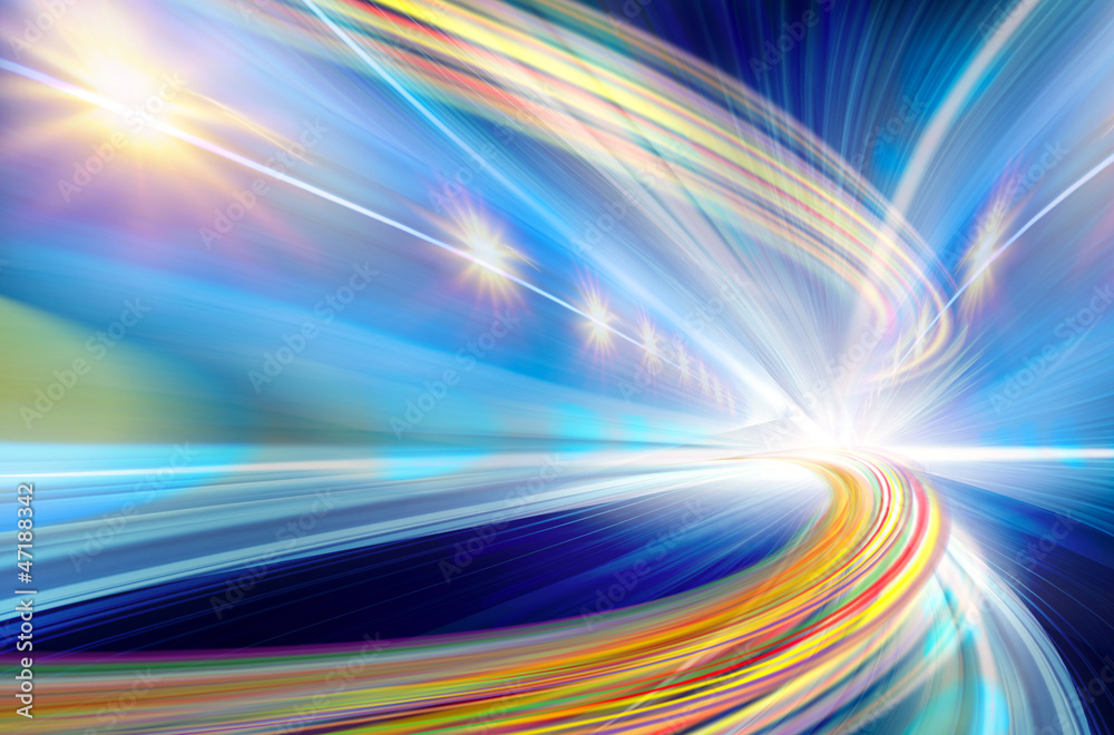 Fototapeta Abstract Speed motion in highway tunnel