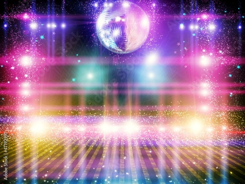 Fotografia Abstract disco ball_Background with lights.