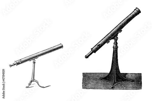 Leinwand Poster Two Telescopes - 19th century