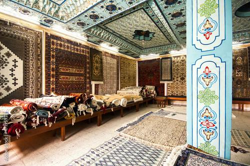 Traditional carpet shop in Kairouan, Tunisia