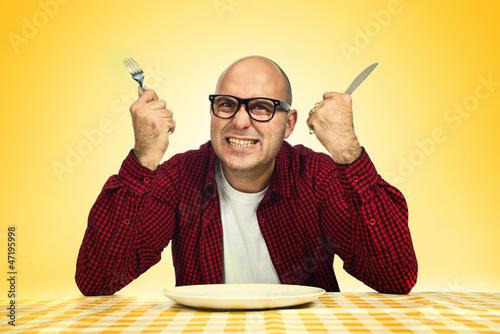 Fotografía Man at the dinner table