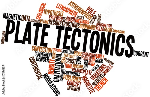 Valokuva  Word cloud for Plate tectonics