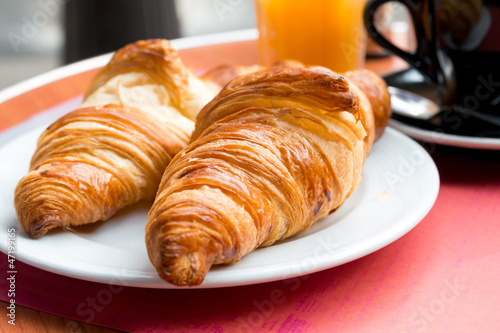 Photo Stands Coffee beans coffee and croissants