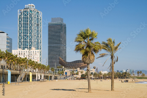 Papiers peints Barcelona Beach in Barcelona