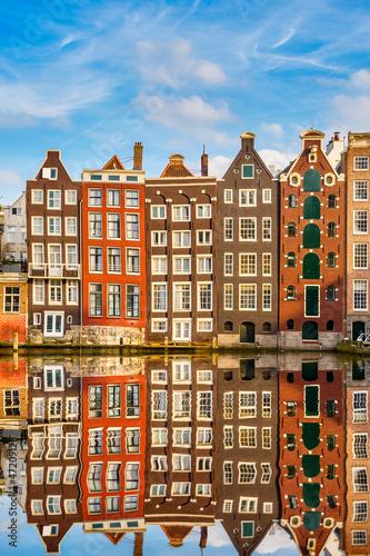 Traditional dutch buildings, Amsterdam