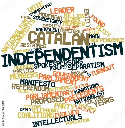 Photo  Word cloud for Catalan independentism