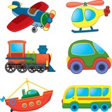 Cartoon transport. Vector set