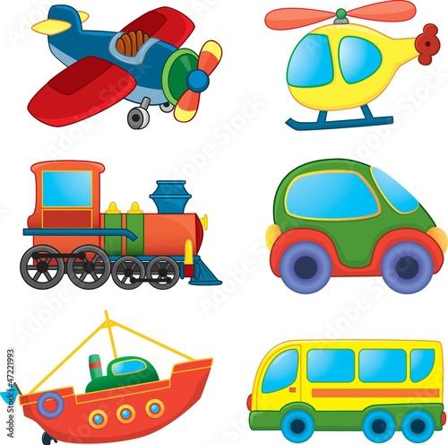 wektorowy-zestaw-transportowych-pojazdow
