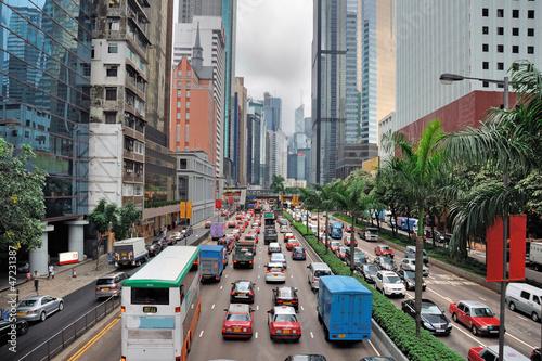 China, Hong Kong Gloucester road Tablou Canvas