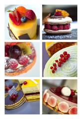 Panel Szklany Do baru Gâteau, dessert, pâtisserie, gastronomie, cuisine, sucre