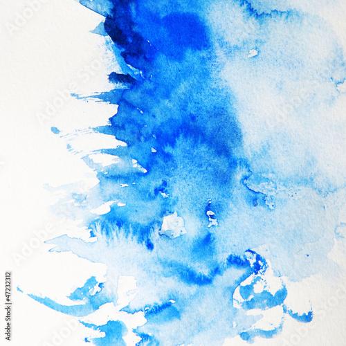 Foto auf AluDibond Kristalle Zeichnung mit Wasserfarben