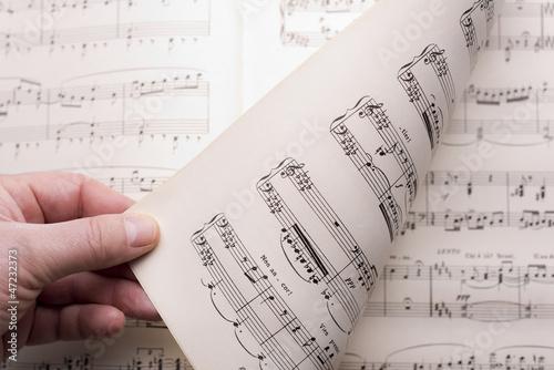 Fotografie, Obraz  spartito musicale