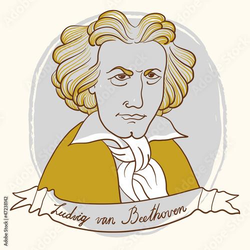 Fotografía  Ludwig van Beethoven.