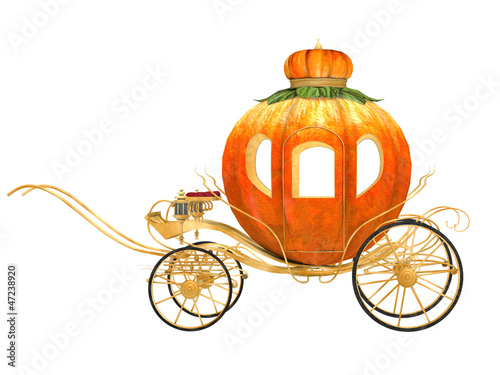 Fotomural Cinderella fairy tale pumpkin carriage, isolated