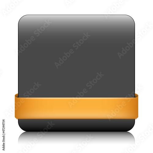 Poster  BLANK Web-Taste (quadratische orange Symbol Symbol Vorlage)