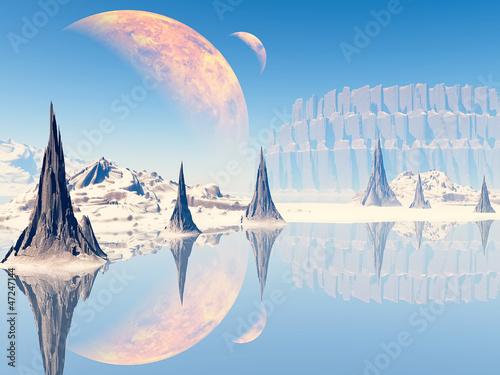 3D Fantasy landscape - 47247144