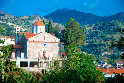 Spoed Foto op Canvas Cyprus The old Church in Troodos Mountains