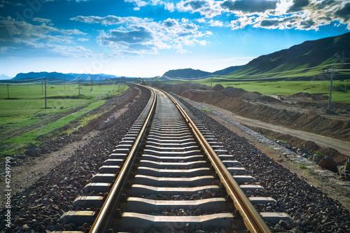 Fotografie, Obraz  railway in prairie