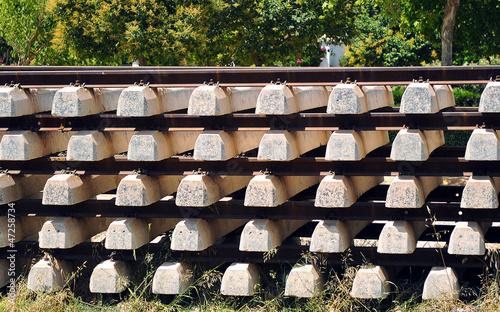 Valokuva Material ferroviario, traviesas de ferrocarril