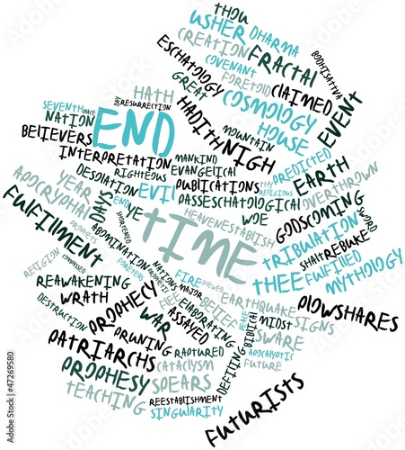Photo Word cloud for End time