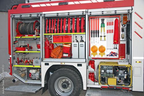 Tela  Emergency equipment inside fire truck