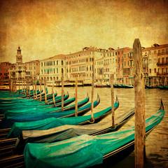 Fototapeta Vintage Vintage image of Grand Canal, Venice