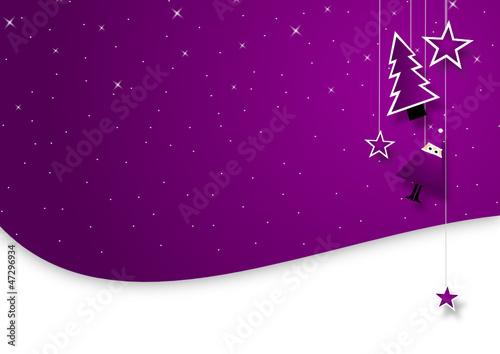 Spoed Foto op Canvas Violet Weihnachten