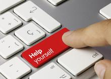 Help Yourself Keyboard Key. Finger