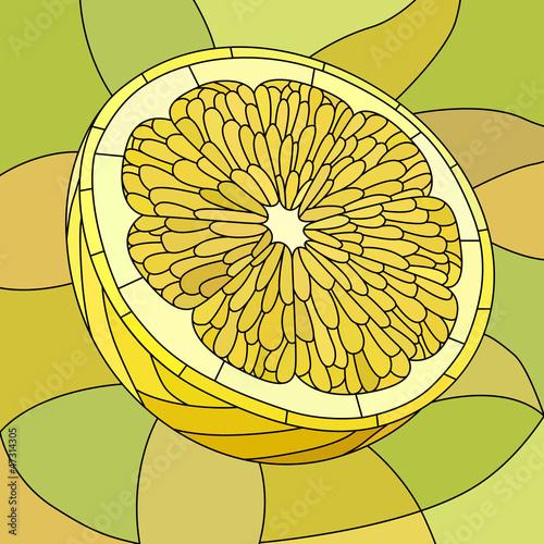 wektorowa-ilustracja-zolta-cytryna