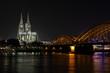 perfekter Blick auf Kölner Dom und Hohenzollern
