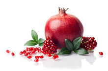 Pomegranate Isolated On The Wh...