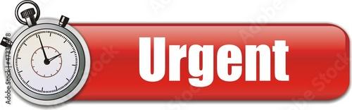 bouton urgent Tablou Canvas
