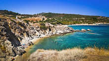 Wonderful Beach At Aegean Sea ...