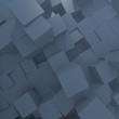 Medium jungle green perspective database Cube Background ''