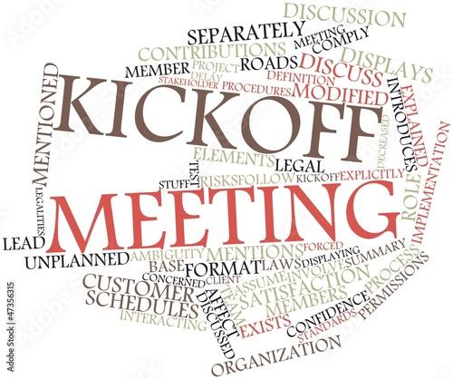 Fotografija Word cloud for Kickoff meeting