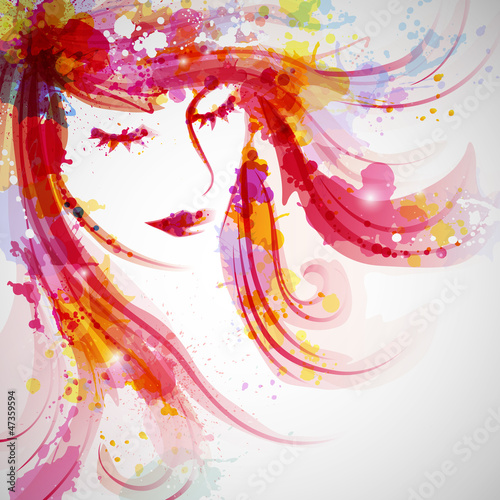 wektorowa-ilustracja-abstrakcjonistyczna-mody-kobieta