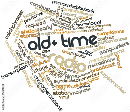 Fotografering  Word cloud for Old-time radio