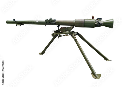 Modern bazooka gun. Clipping path included. Wallpaper Mural