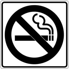 Schild Weiß - Rauchen Verboten