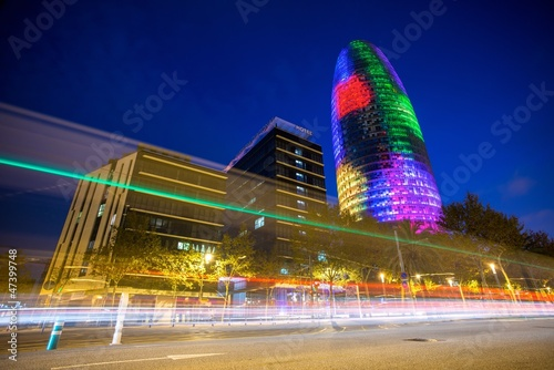 Papiers peints Barcelona BARCELONA - NOVEMBER 24: Torre Agbar office building, Spain