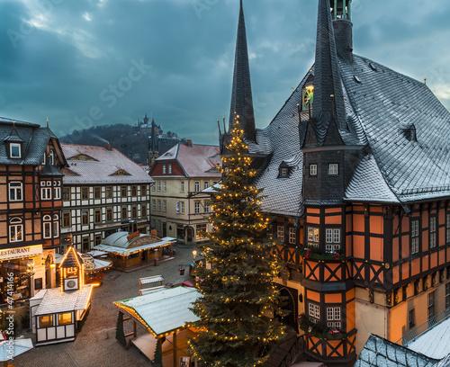 Wernigerode Weihnachtsmarkt.Weihnachtsmarkt In Wernigerode Kaufen Sie Dieses Foto Und Finden