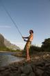 am Fluss fischen