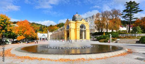 Fotografie, Obraz  Marianske Lazne Spa, Singing fountain, Czech Republic.