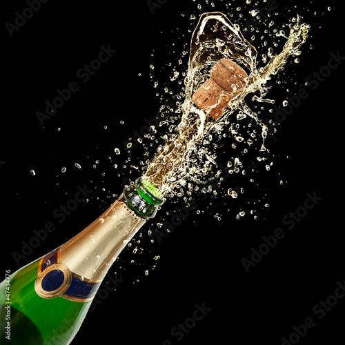Fotografie, Obraz  Celebration theme with splashing champagne