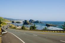 Scenic Road Along The Spectacular Oregon Coast