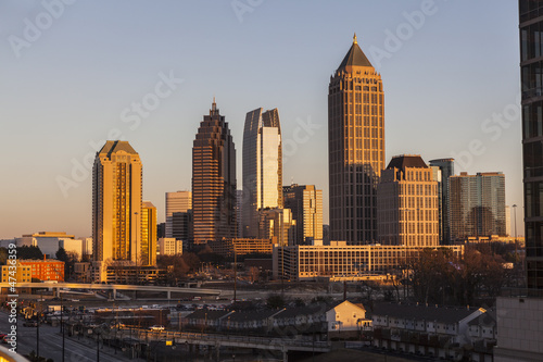 Plakat Atlanta Georgia Skyline Sunset