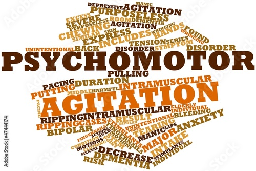 Word cloud for Psychomotor agitation